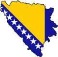Bosnia And Herzegovina Flag Map - Mapsof.Net Map