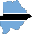 Botswana Flag Map - Mapsof.net