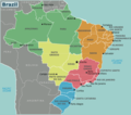 Brazil Regions - Mapsof.Net Map
