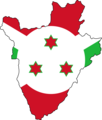 Burundi Flag Map - Mapsof.Net Map