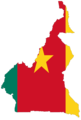 Cameroon Flag Map - Mapsof.Net Map