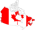 Canada Flag Map - Mapsof.Net Map