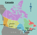 Canada Regions Map - Mapsof.Net Map