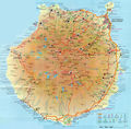 Canaries Gran Canaria Map - Mapsof.Net Map