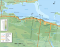 Caraquet Topographic Map - Mapsof.Net Map