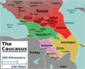 Caucasus Regions Map - Mapsof.Net Map