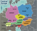 Central Europe Regions - Mapsof.net