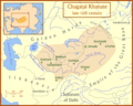 Chagatai Khanate Map - Mapsof.Net Map