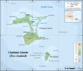 Chatham Islands Map Topographic - Mapsof.Net Map