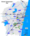 Chennai Transport Map - Mapsof.Net Map