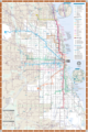 Chicago Detailed Rail Transport Map - Mapsof.Net Map