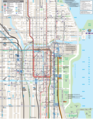 Chicago Downtown Transport Map - Mapsof.Net Map