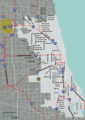 Chicago Overview Map - Mapsof.Net Map