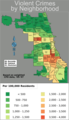 Chicago Weighted Crime Map 05 07 - Mapsof.Net Map