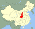 China Shaanxi Location Map - Mapsof.Net Map
