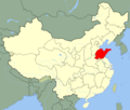 China Shandong Location Map - Mapsof.Net Map