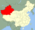 China Xinjiang Location Map - Mapsof.Net Map