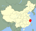 China Zhejiang Location Map - Mapsof.Net Map