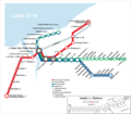 Cleveland Metro System Map (rail) - Mapsof.Net Map
