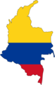 Colombia Flag Map - Mapsof.Net Map