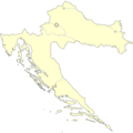 Croatia Base Map Alone - Mapsof.Net Map
