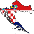 Croatia Flag Map - Mapsof.Net Map