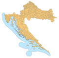 Croatia Map Municipalities - Mapsof.Net Map