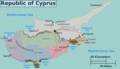Cyprus Regions Map - Mapsof.net