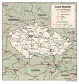 Czech Republic Political Map 1994 - Mapsof.net