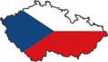 Czech Republic Flag Map - Mapsof.net