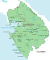 Darien Panama Political Map - Mapsof.Net Map