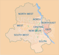 Delhi Districts Map - Mapsof.Net Map