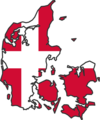 Denmark Flag Map - Mapsof.Net Map