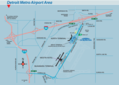 Detroit Metro Airport Area Map - Mapsof.net