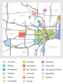 Detroit Neighborhood Map - Mapsof.net