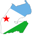 Djibouti Flag Map - Mapsof.net