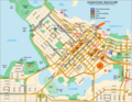 Downtown of Vancouver Map - Mapsof.net