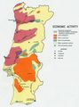Economic Activity Map of Portugal 1972 - Mapsof.Net Map