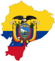 Ecuador Flag Map - Mapsof.net