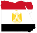 Egypt Flag Map - Mapsof.Net Map
