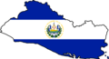 El Salvador Flag Map - Mapsof.Net Map