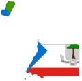 Equatorial Guinea Flag Map - Mapsof.Net Map
