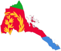 Eritrea Flag Map - Mapsof.Net Map
