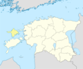 Estonia Blank Map Hiiu Location - Mapsof.net