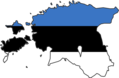 Estonia Flag Map - Mapsof.Net Map