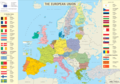 European Union Members And Canditates Map - Mapsof.Net Map