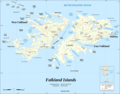 Falkland Islands Map Shaded Relief - Mapsof.net