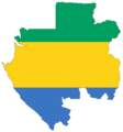 Gabon Flag Map - Mapsof.Net Map