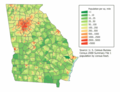 Georgia Population Map - Mapsof.net