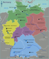 Germany Regions Map - Mapsof.Net Map